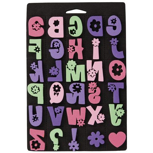Штампы детские Craft Planet Foam Stamp Set - Alphabet