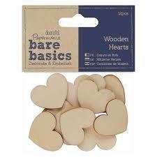 Сердечки из дерева Wooden Hearts 50шт
