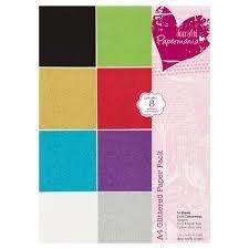 Hârtie color cu glitter Papermania (16 buc)