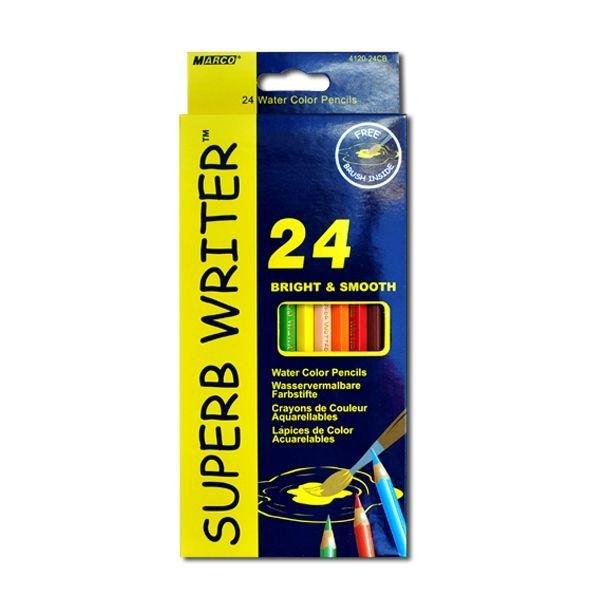 Набор акварельных карандашей 24цв. с кистью Marco
