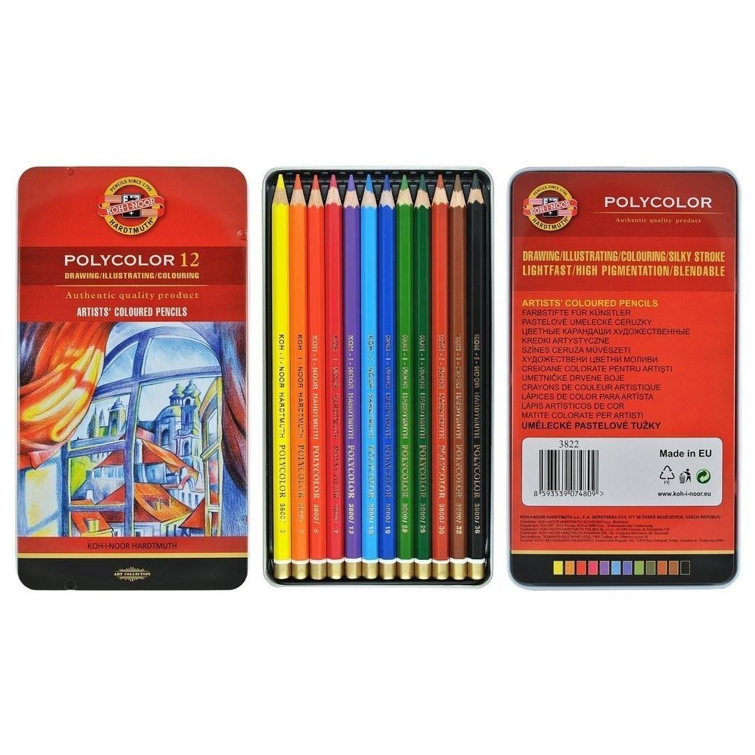 Цветные карандаши Koh-I-Noor Polycolor 12 цв.