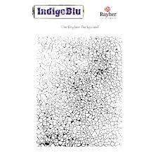 Набор штампов Stampila Rayher IndigoBlu, Crackleglaze, 125x100 см