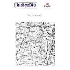 Набор штампов Stampila Rayher IndigoBlu, Map, 110x105см