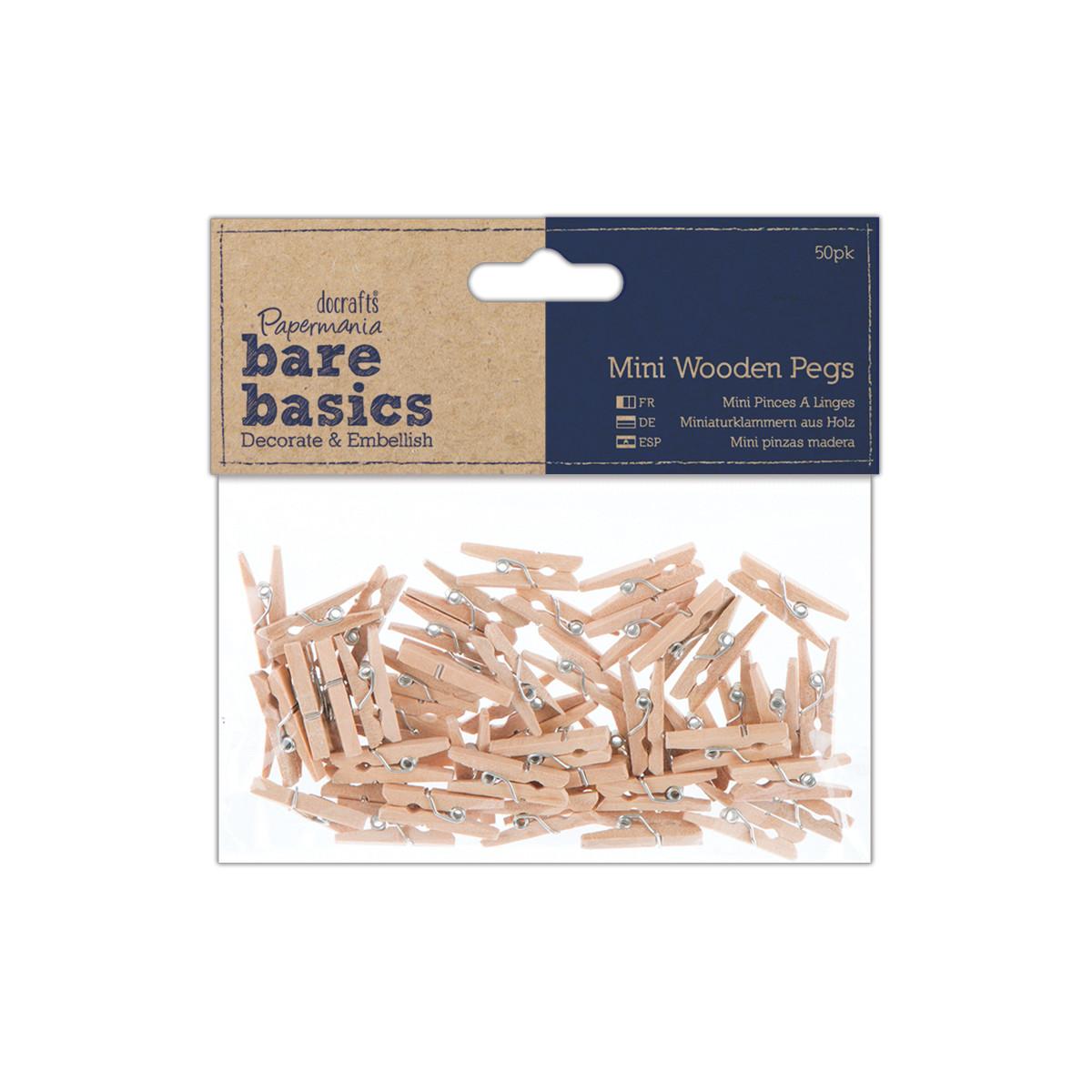 Прищепки деревянные 2,5 см (50шт)