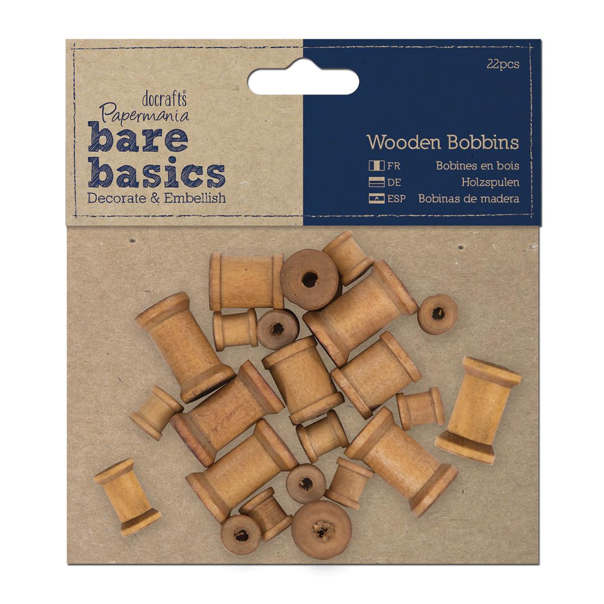 Дереевянные бобины (22шт) - Bare Basics