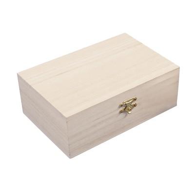 Коробка из дерева, 15x15x5,5 см