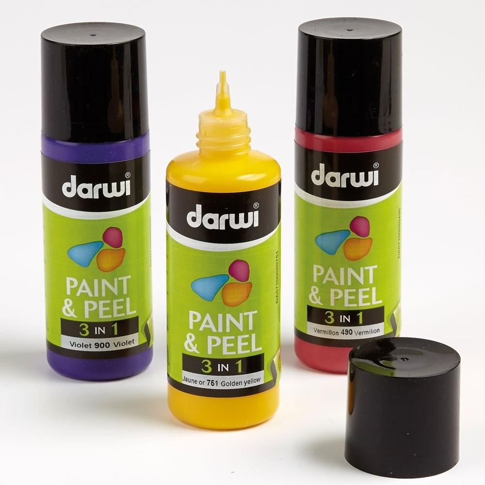 Набор красок PAINT & PEEL 3 в 1 Darwi 6*80мл