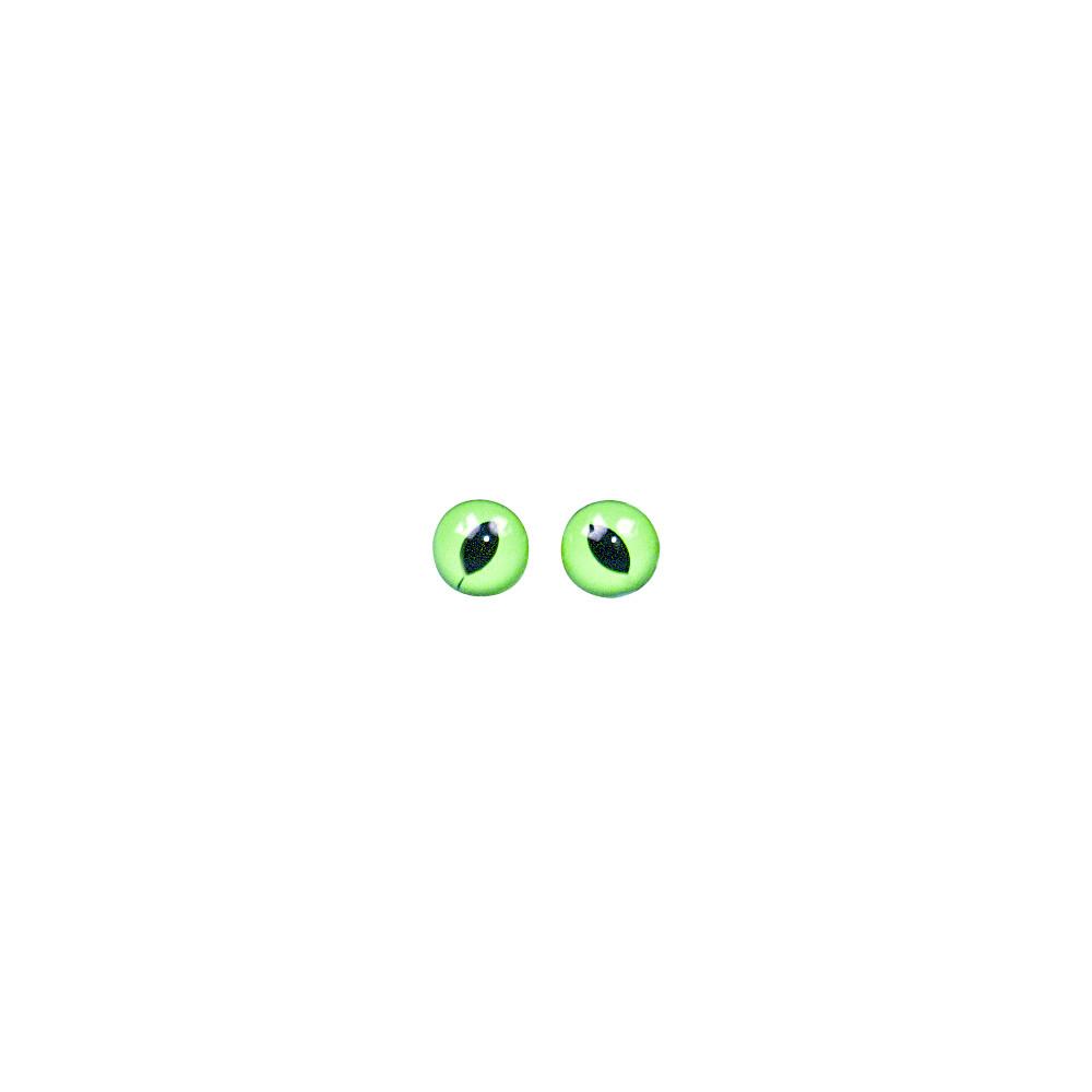 Глазки пластиковые кошачьи 8мм