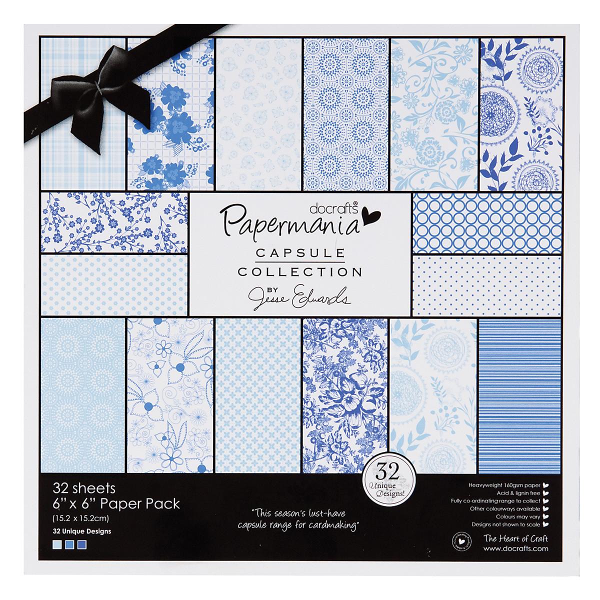 Набор бумаги 20*20 см Burleigh Blue 32л