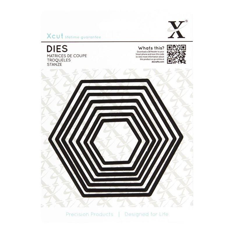 Форма для вырубки Xcut - Nesting Hexagon