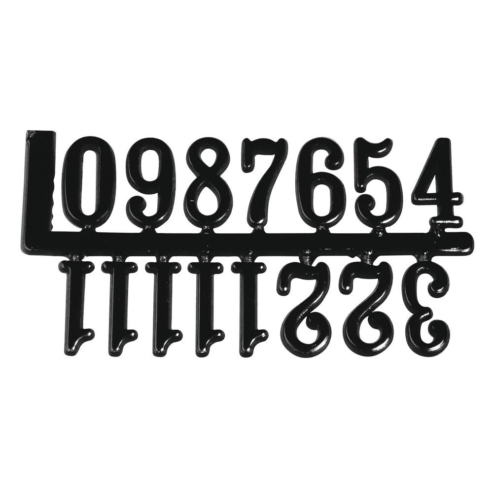Пластиковые цифры для часов (черные)