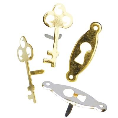 Брадсы lock & key, ассорти 24шт