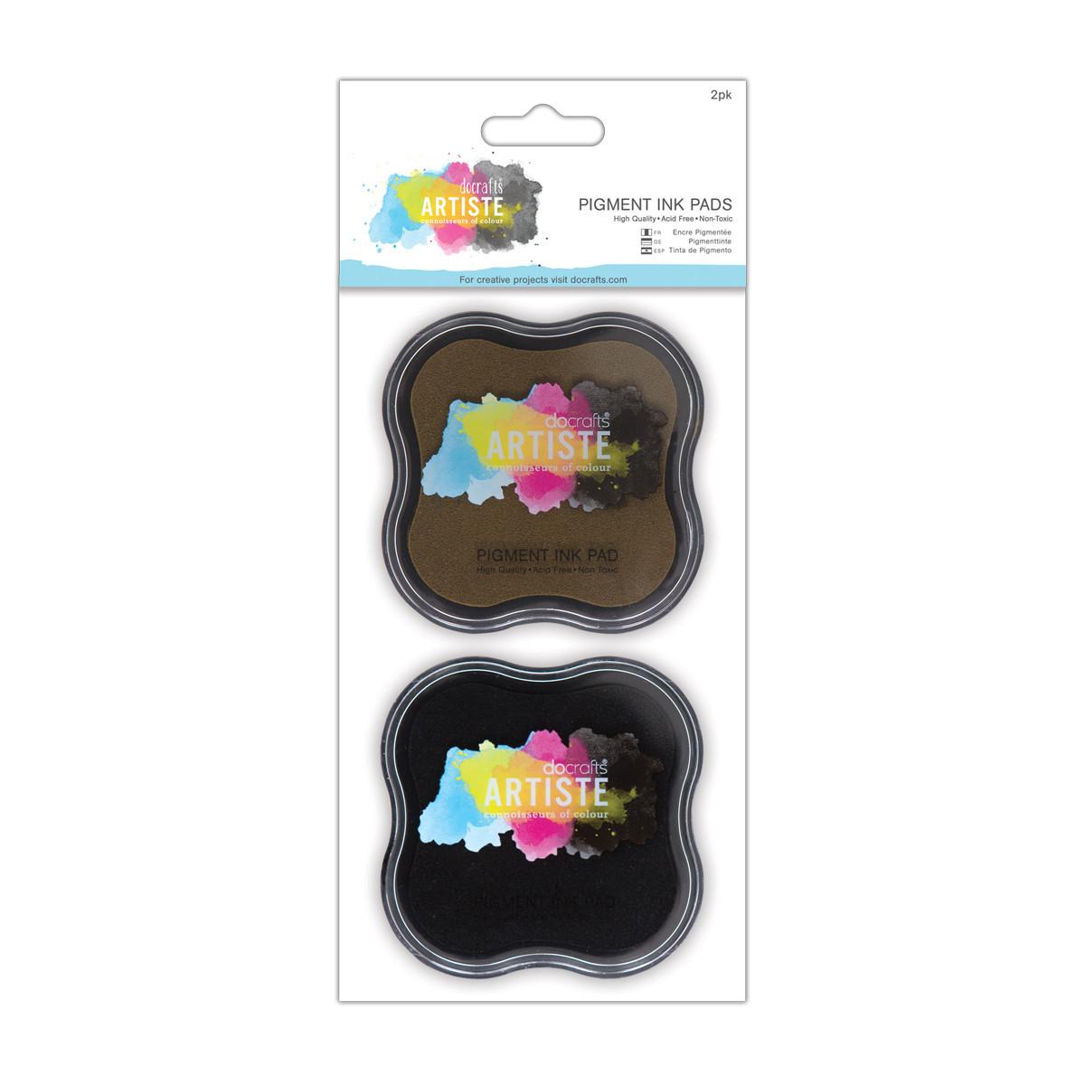Тушь для штампов DOCRAFTS Artiste Dye Ink Pad 2шт