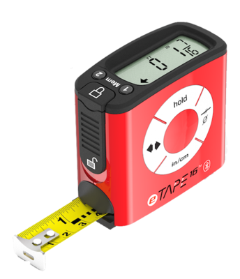 eTAPE16 digital inch/metric 5m tape measure