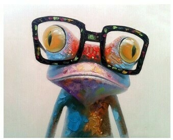 Paint by Numbers Kit Frog Wearing Glasses 40 x 50cm