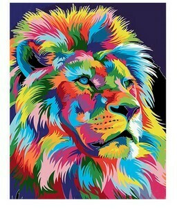 Paint by Numbers Psychedelic Lion 40 x 50cm