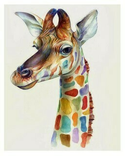 Paint by Numbers Kit Funky Giraffe 40 x 50cm