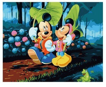 Paint by Numbers Kit Mickey and Minnie 40 x 50cm
