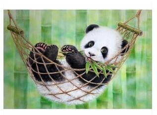 Paint by Numbers Panda in hammock 40 x 50cm