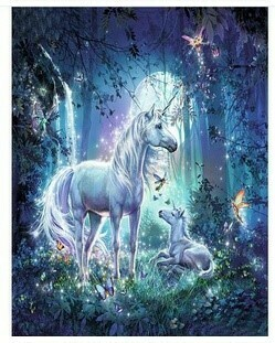 Paint by Numbers Unicorns and fairies 40 x 50cm