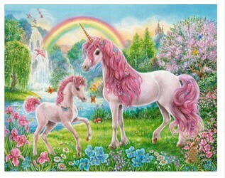 Paint by Numbers Pink unicorns 40 x 50cm