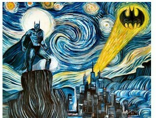 Paint By Numbers Kit Batman Starry Starry night 40 x 50cm