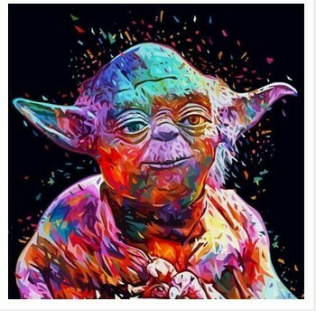 Paint by Numbers Yoda 40 x 50cm