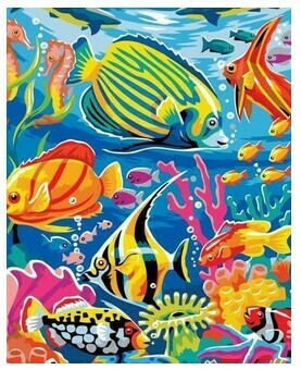 Paint by Numbers Kit Coral kingdom 40 x 50cm