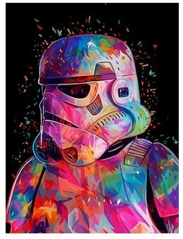 Paint by Numbers Storm Trooper 40 x 50cm