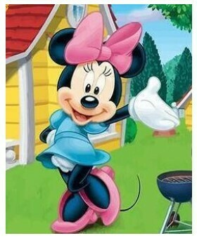Paint by Numbers Kit Minnie Mouse 40 x 50cm