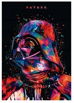 Paint by Numbers Kit Darth Vader 40 x 50cm