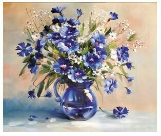 Paint by Numbers Kit Flowers in Glass Jug 40 x 50cm