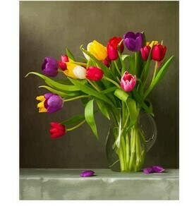 Paint by Numbers Tulips in vase 40 x 50cm