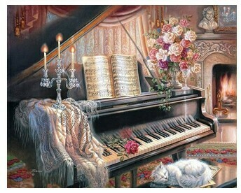 Paint by Numbers Piano 40 x 50cm