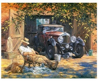 Paint by Numbers Kit Old man and his car 40 x 50cm