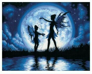 Paint by Numbers Kit Fairies in the Moonlight 40 x 50cm