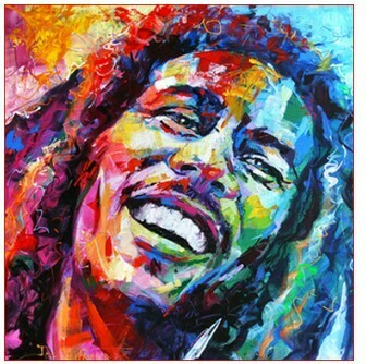 Paint By Numbers Kit Bob Marley 40 x 50cm