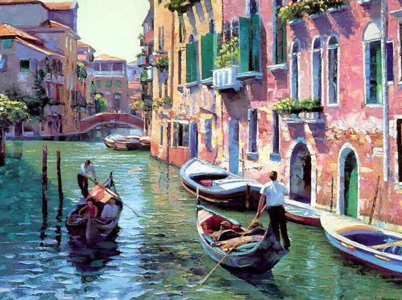 Paint by Numbers Visit to Venice 40 x 50cm