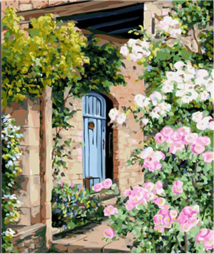Paint By Numbers Kit Blue Door 40 x 50cm