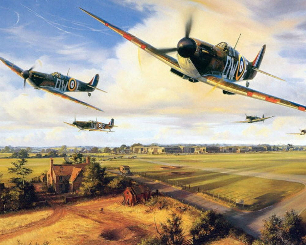Paint by Numbers Spitfires on Patrol 40 x 50cm
