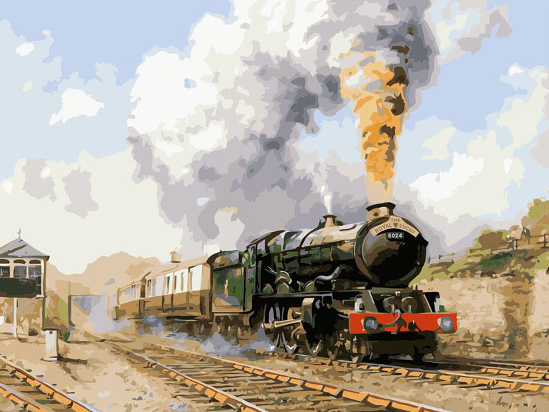 Paint by Numbers Steam Train 40 x 50cm