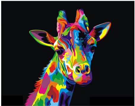 Paint by Diamond Kit Psychedelic Giraffe 20 x 25cm