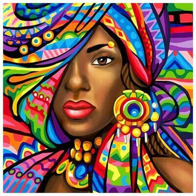 Paint by Diamond Kit African Princess 30 x 40cm