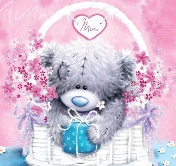 Paint by Diamond Kit Love Bear 40 x 40cm
