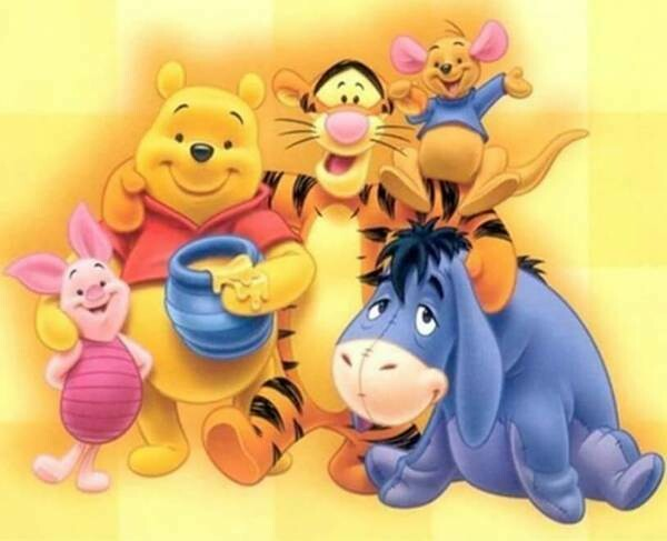 Paint by Diamond Kit Pooh and Friends 40 x 50cm