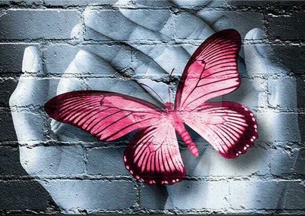 Paint by Diamond Kit Butterfly Handful 40 x 50cm