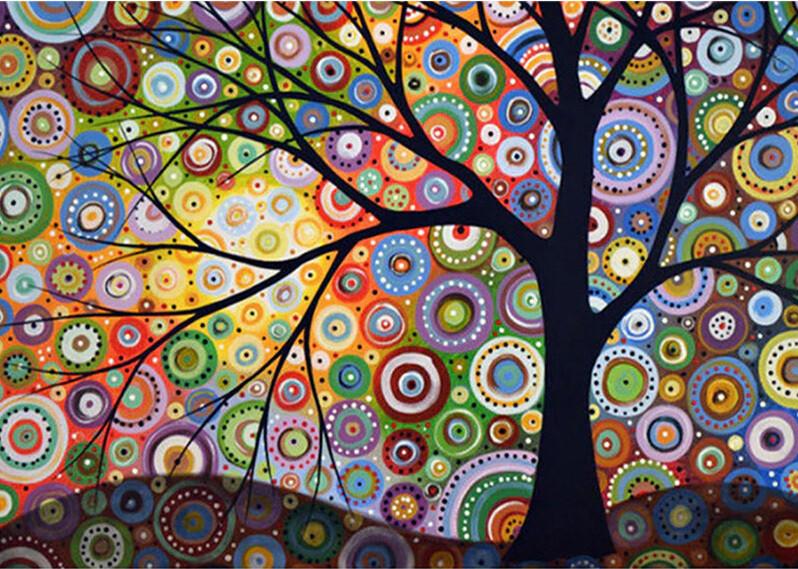 Paint by Diamond Kit Funky Tree 40 x 50cm