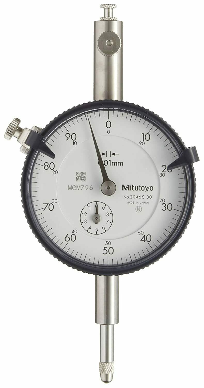 Mitutoyo 2046S-80 Dial Indicator 10mm x 0.01mm (Peak Hold)