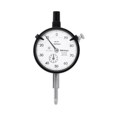 Mitutoyo 2902S Dial Indicator 10mm x 0.01mm (Reverse reading)