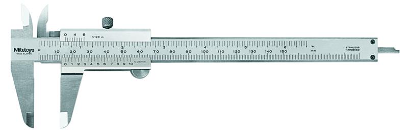 Mitutoyo 530-104 Vernier Caliper 150mm x 0.05mm (Inch/Metric)